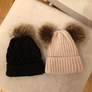 Baby girl winter hats. 0-6m